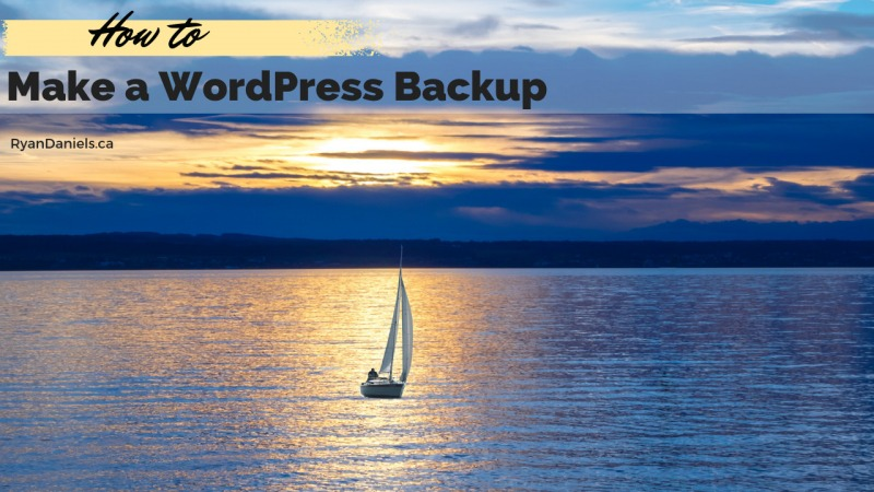 How to Make a WordPress Backup