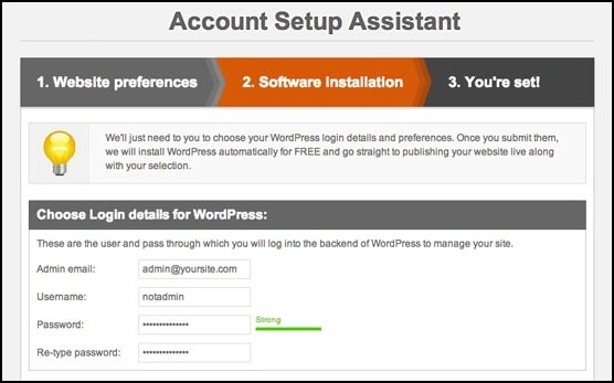 Installing WordPress on Your Blog