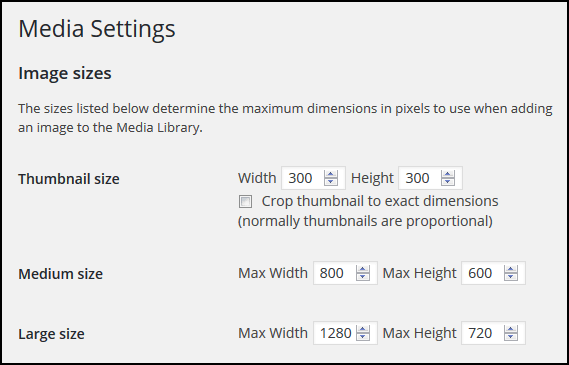 Speed Up WordPress Image Optimization Guide - Media Settings