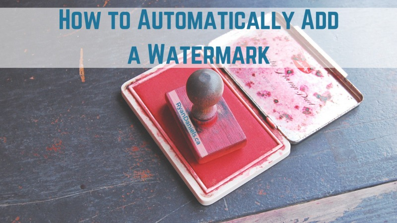 How to Automatically Add Watermark