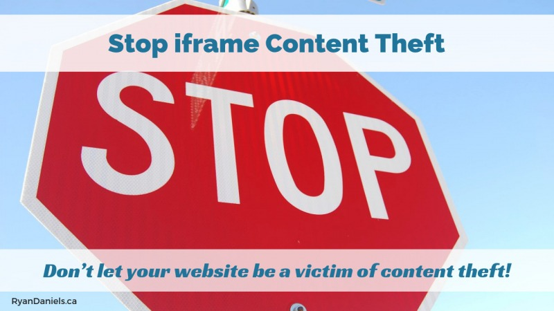 Stop iframe Content Theft